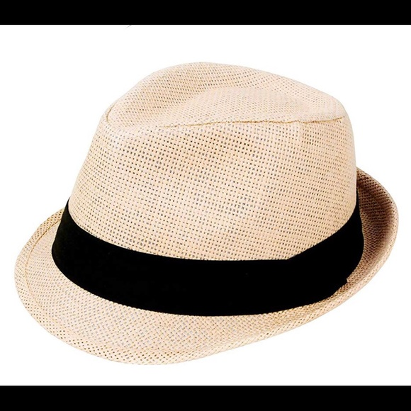 04d516cc8b79a Straw fedora hat with cloth band